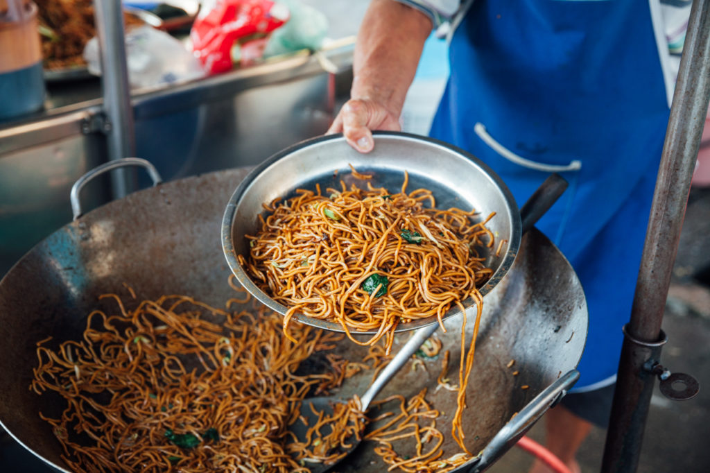 Wok-fried noodles at Kimberly Street Food Night Market