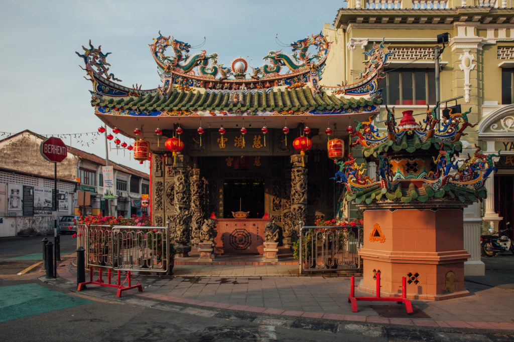 Chinese Choo Chay Keong Temple adjoined to Yap Kongsi clan house