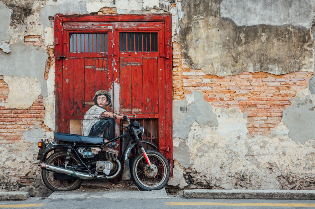 "Mural ""Boy on a Bike"" by Ernest Zacharevic"