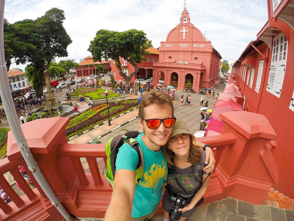 Our selfie in Melaka, Malaysia