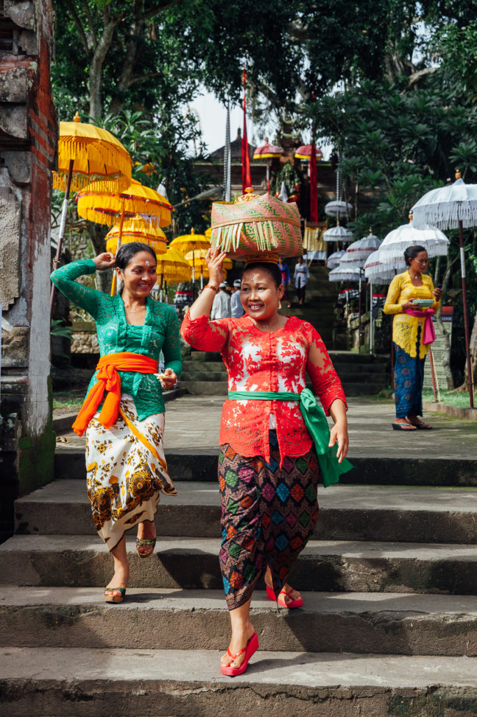 Balinese women at the temple, Ubud, Bali, Indonesia