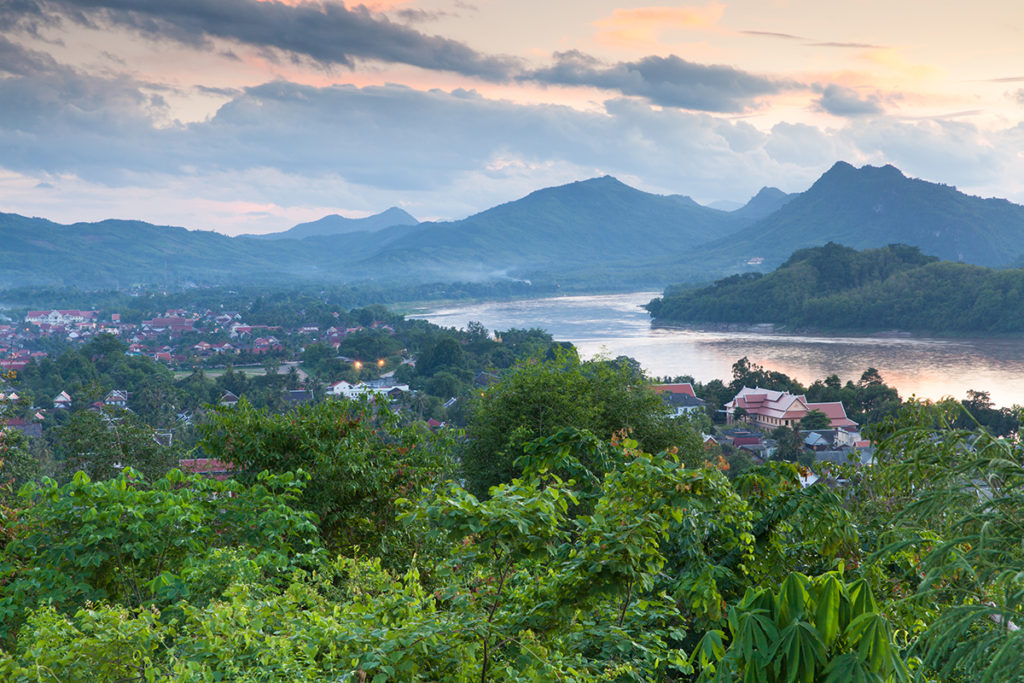 Sunset over Luang Prabang, Laos