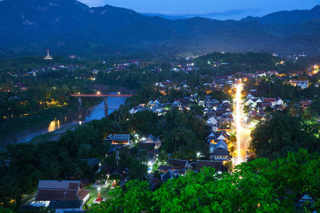 The view of Luang Prabang at dusk, Laos