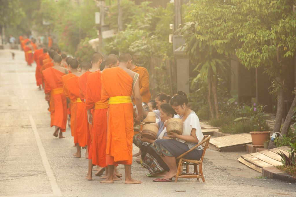The alms giving ceremony in Luang Prabang, Laos