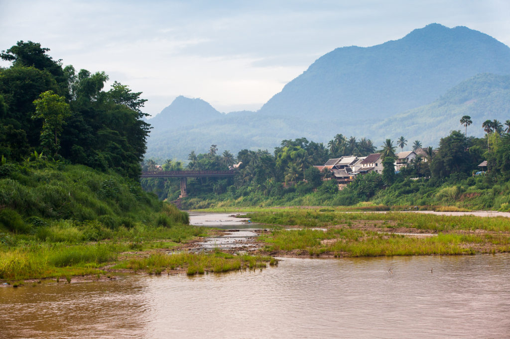 The Nam Khan river in the morning, Luang Prabang, Laos