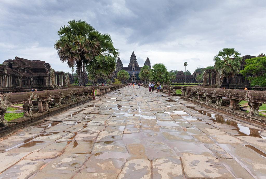 Angkor Wat during the rainy season