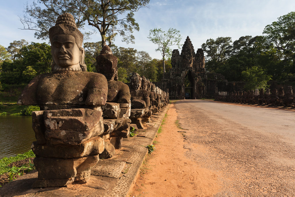 The entrance to Angkor Thom the former capital of Khmer empire