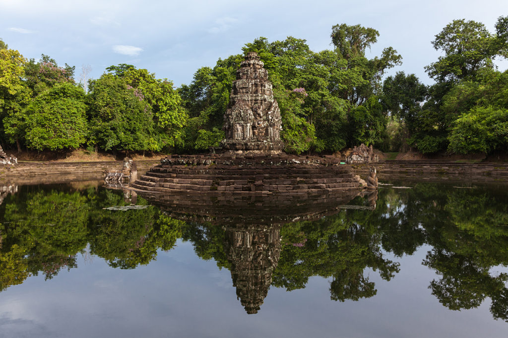 The Neak Pean, one of the Grand Circuit temples