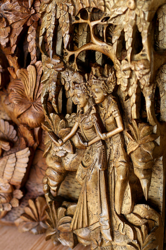 The exceptional wood carving, Bali, Indonesia
