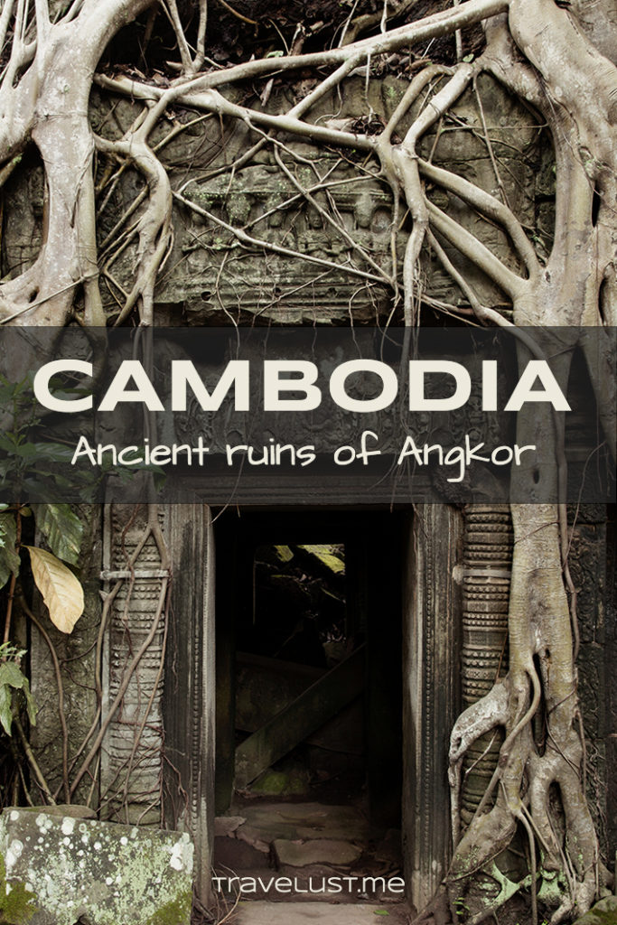 Angkor Wat is the famous enigmatic temple ruins hidden in the jungles of Cambodia.