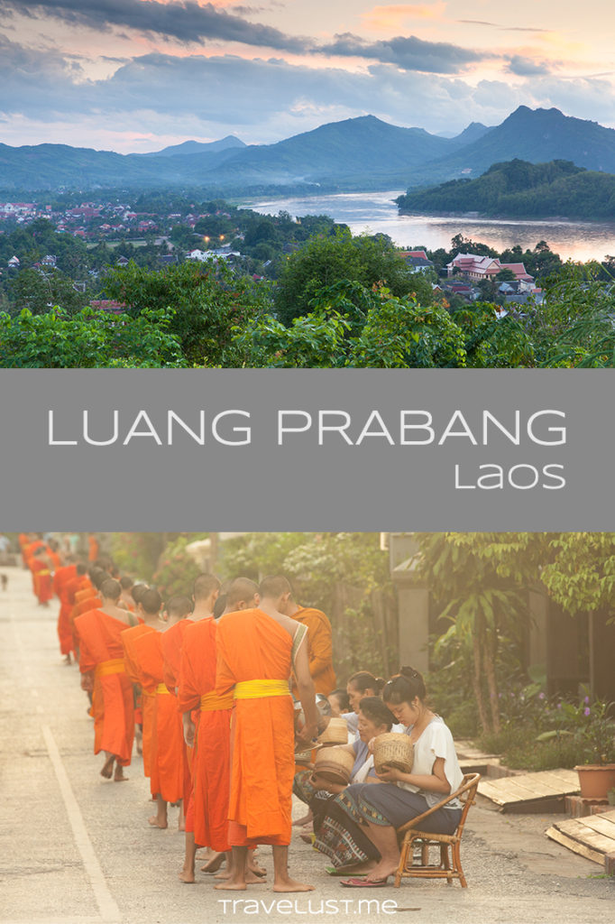 Luang Prabang is a small town in the north central #Laos. The town is situated at the confluence of the Nam Khan and the #Mekong River and surrounded by emerald #mountains. This place was formerly the capital of the #LuangPrabang kingdom. During French colonial period it was the seat of government of the Kingdom of Laos. The town of Luang Prabang was listed as UNESCO World Heritage Site for its well-preserved architectural, cultural and religious heritage.