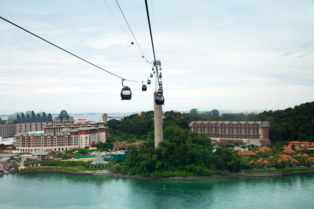 Cable car leading to Sentosa, Singapore