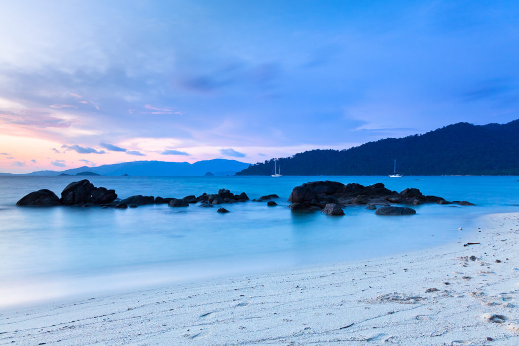 Sunset Beach at dusk, Koh Lipe, Thailand