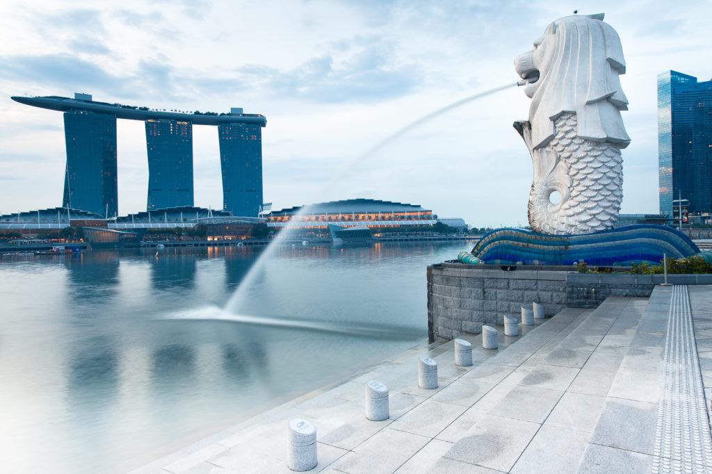 Merlion fountain, Singapore