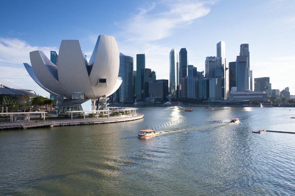 ArtScience Museum and Marina Bay panorama, Singapore