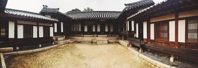 Traditional house in the Namsangol Hanok Village