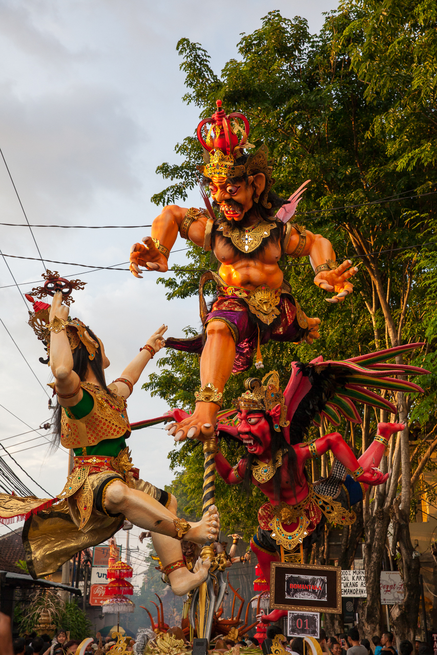 Nyepi Balinese New Year: Ogoh-Ogoh statues at the parade